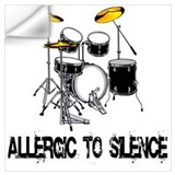 Allergic to silence Wall Decals
