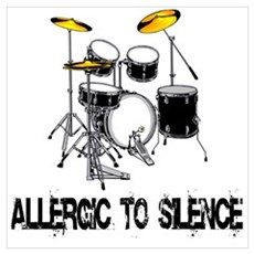 Allergic to silence drummer Framed Print