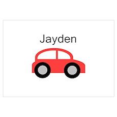 Jayden - Red Car Poster