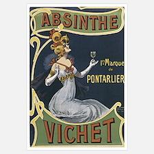 Vichet Absinthe Liquor Label