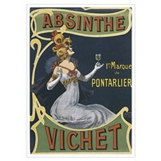 Vichet Absinthe Liquor Label Poster