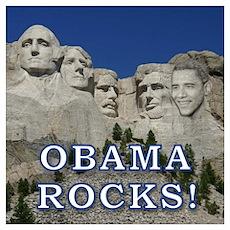 """Obama Rocks!"" Poster"