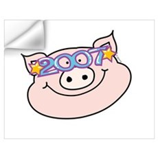 2007 Star Pig Wall Decal