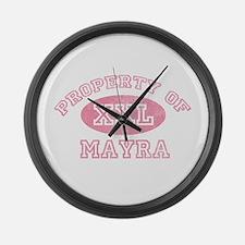 Property of Mayra Large Wall Clock