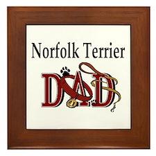 Norfolk Terrier Dad Framed Tile