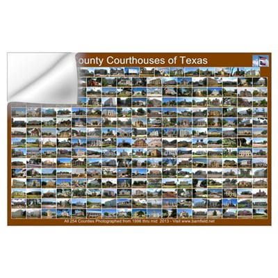 County Courthouses Of Tex Horizontal Brown Wall Decal