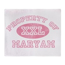 Property of Maryam Throw Blanket