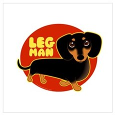 LEG MAN Doxie Poster