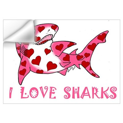 I Love Sharks Wall Decal