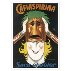 Cafiaspirina Vintage Poster