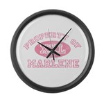 Property of Marlene Large Wall Clock