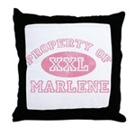 Property of Marlene Throw Pillow