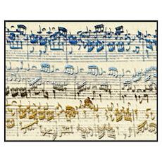 "BACH Music Autograph 11 x 15"" Print Poster"