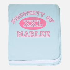 Property of Marlee baby blanket