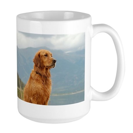 Golden Retriever Lake Large Mug