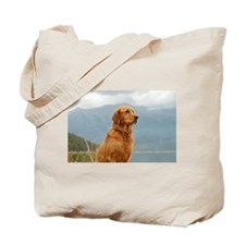 Golden Retriever Lake Tote Bag