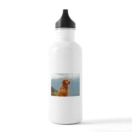 Golden Retriever Lake Stainless Water Bottle 1.0L