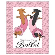 Dachshund Ballerinas Canvas Art