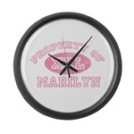 Property of Marilyn Large Wall Clock