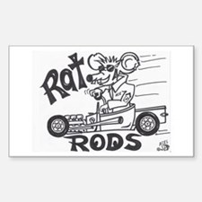 ratrod hotrod Rectangle Decal