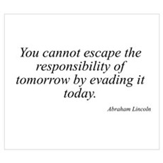 Abraham Lincoln quote 129 Poster