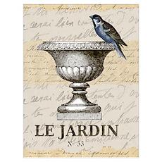 FRENCH GARDEN Poster