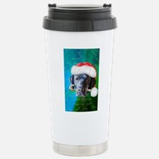 Black Lab Christmas Stainless Steel Travel Mug