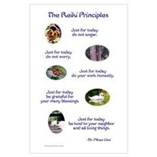 Reiki Principles Poster