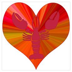 Lobster Love Poster