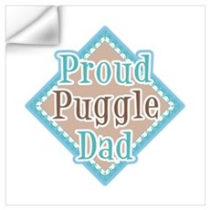 proud Puggle Dad Wall Decal