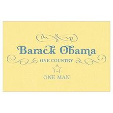 Obama One Man (Large) Poster