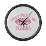 Property of Malia Large Wall Clock