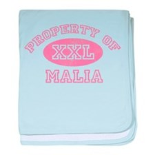 Property of Malia baby blanket