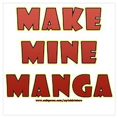 Manga Fan Saying Poster