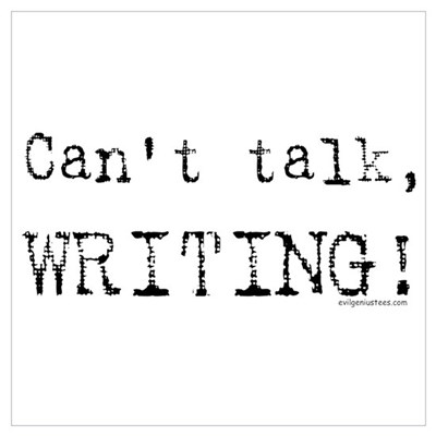 Can't talk, writing Canvas Art