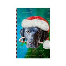 Black Lab Christmas Rectangle Magnet