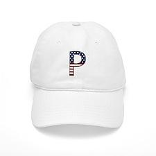 P Stars and Stripes Baseball Baseball Cap