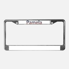 Pamela Stars and Stripes License Plate Frame