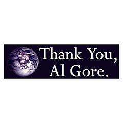 Thank You, Al Gore (bumper sticker)
