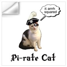 Pi-rate Cat Wall Decal