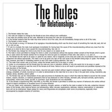 The Rules For Relationships Canvas Art
