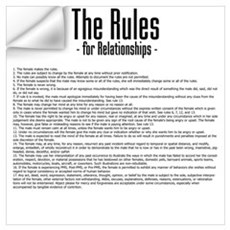 The Rules For Relationships Wall Decal