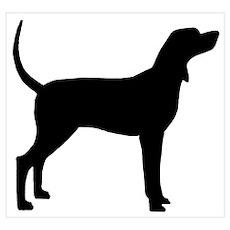 Coonhound Dog (#2) Poster