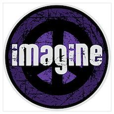 Imagine Peace Vintage Poster