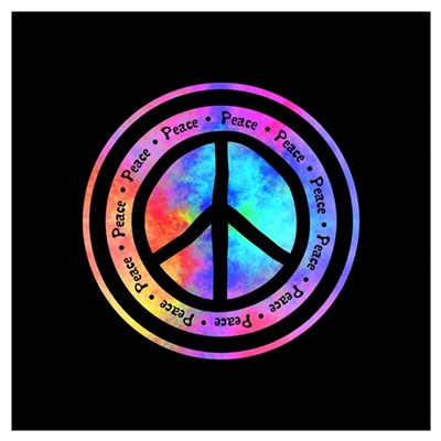 Distorted Peace Sign Poster