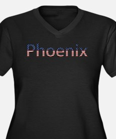 Phoenix Stars and Stripes Women's Plus Size V-Neck