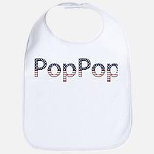 PopPop Stars and Stripes Bib