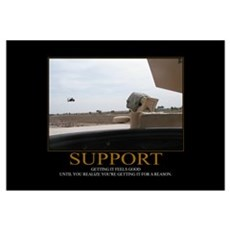 Support Motivational Framed Print