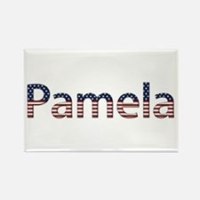 Pamela Stars and Stripes Rectangle Magnet