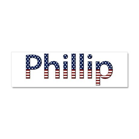 Phillip Stars and Stripes 10x3 Car Magnet